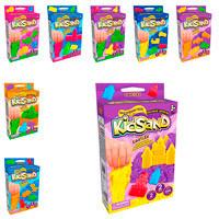 Кинетический песок DankoToys KidSand Mini в коробке с формочками (6 цветов, 200 г)