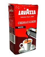 Кофе молотый Lavazza Crema e Gusto Ricco 250 г в цветной упаковке