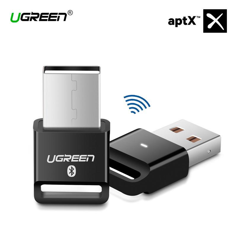 USB Bluetooth адаптер Ugreen беспроводной передатчик bluetooth 4.0 для компьютера US192 (Черный)