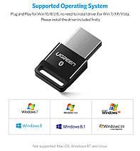 USB Bluetooth адаптер Ugreen беспроводной передатчик bluetooth 4.0 для компьютера US192 (Черный), фото 2