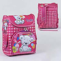 Рюкзак школьный каркасный С 36164 (50) 1 отделение, 3 кармана, спинка ортопедическая, 3D принт