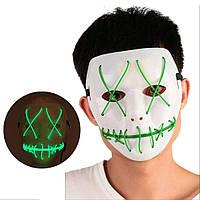 Неоновая Маска для вечеринок с подсветкой Led Mask 1 Green - 149768