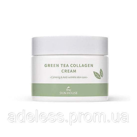 Крем с коллагеном и экстрактом зеленого чая The Skin House Green Tea Collagen Crem, 50 мл