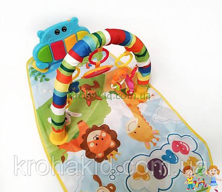Детский развивающий коврик с пианино и подвесками, со звуковыми эффектами, Huanger HE0612/ 0613, фото 2