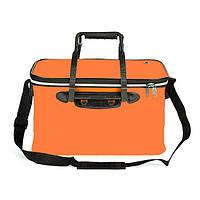 a321854c5572 Сумка ящик SF23835 для рыбалки водонепроницаемая с карманом 45 х 27 х 25 см  Оранжевый (007103)