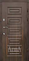Двери входные Арма орех темный тип 13 модель 120 квартира