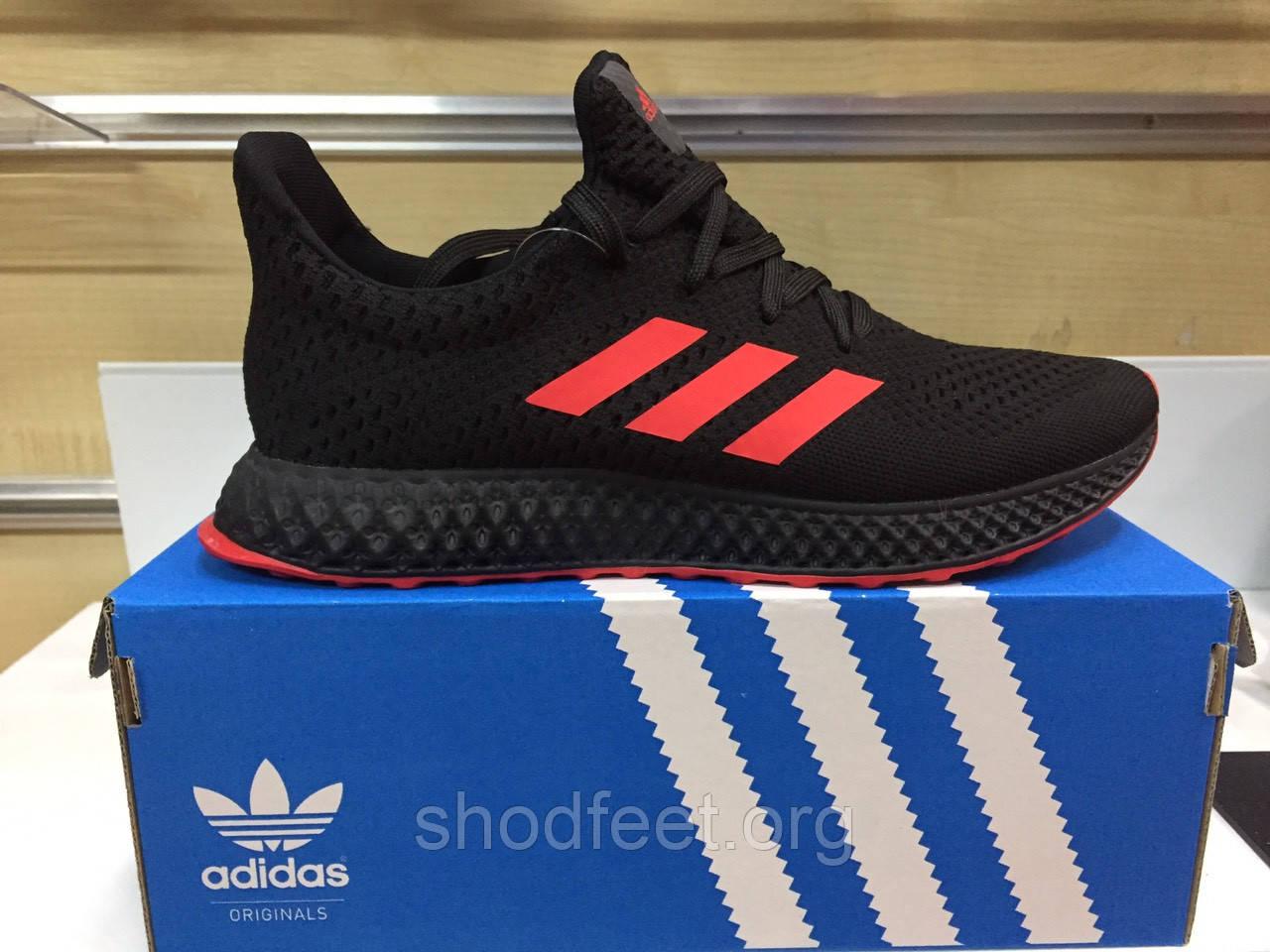 Мужские кроссовки Adidas Futurecraft 4D Black Red