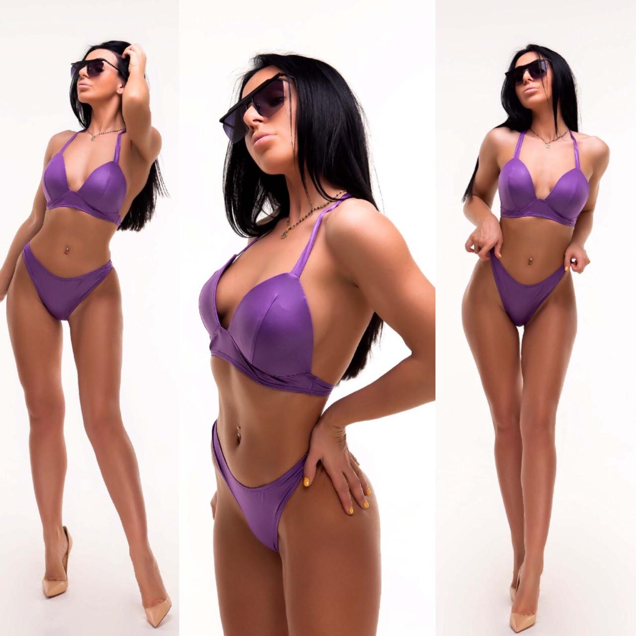 """Жіночий стильний роздільний купальник 0019 """"Бікіні"""" в кольорах"""