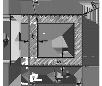 Труба квадратная алюминий 80х80х4 / анод