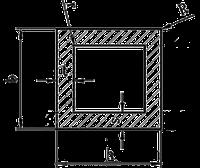 Алюминиевая труба профильная квадратная Модель ПАС-0131 80х80х4 / анод, фото 1