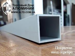 Труба квадратная алюминий 100х100х2 / б.п, фото 2