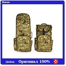 Рюкзак для металлоискателя, лопаты, катушки (пиксель)