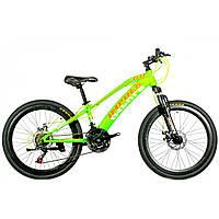 "Велосипед IMPULS ARROW 24"" Рама 11.5"" салатово-оранжевый"