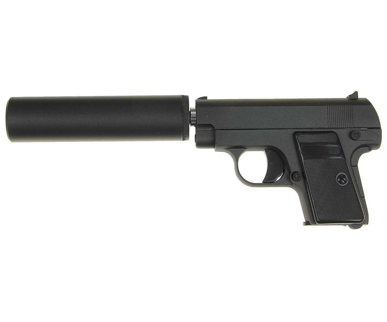 Страйкбольный пистолет Galaxy G9A (Colt 25 mini) с глушителем