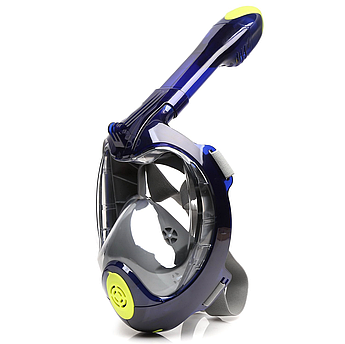 Маска полнолицевая для подводного плавания(снорклинга)Easy Breath GenerationIII Синяя