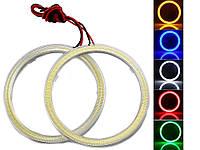Светодиодные кольца Ангельские глазки для авто E-Bright (2 шт.) 70 мм. Белый