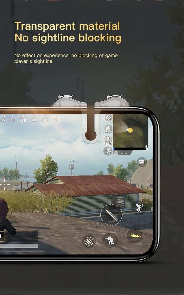 Игровой контроллер (джойстик, геймпад, триггер) Baseus G9 Mobile Game SUCJG9-01 для смартфона Черный прозрачный