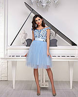 da607c0e0af Шикарное женское платье с пышной юбкой из сетки