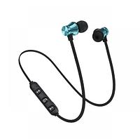 Беспроводные Bluetooth наушники Гарнитура с микрофоном Голубой