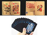 Колода игральных карт 500 € водонепроницаемые 500 евро Золотой