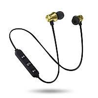 Беспроводные Bluetooth наушники Гарнитура с микрофоном Золотой