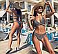"""Женский стильный раздельный купальник-бикини 0022""""Люрекс Переплёт"""" в расцветках, фото 2"""