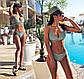 """Женский стильный раздельный купальник-бикини 0022""""Люрекс Переплёт"""" в расцветках, фото 4"""