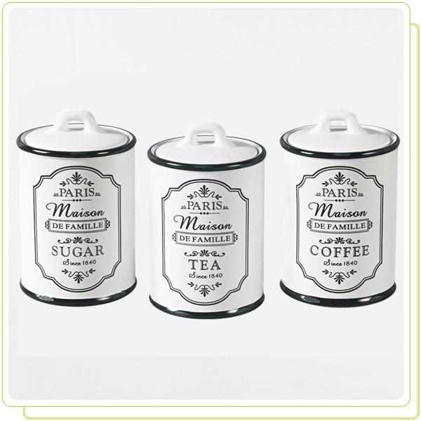 Набор из 3-х ёмкостей для сахара, кофе, чая