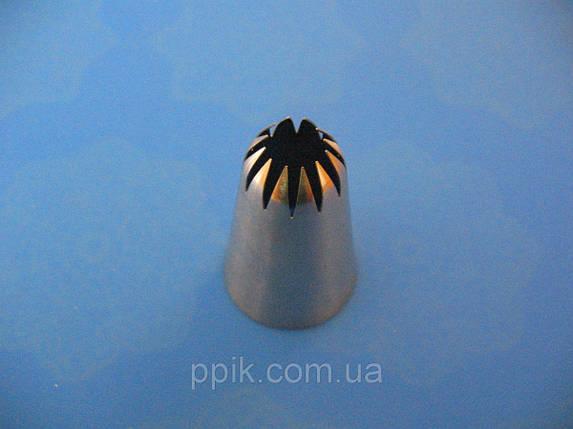 Насадка кондитерская метал. бесшовная 1E с 12 зубцами, фото 2