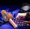 Акция! Bluetooth микрофон-караоке WS-668 с цветомузыкой, слотом USB и FM тюнером золотой, фото 3