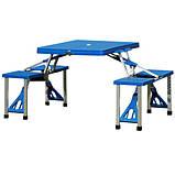 Туристичний складний столик з лавками 4-ри місний, фото 2