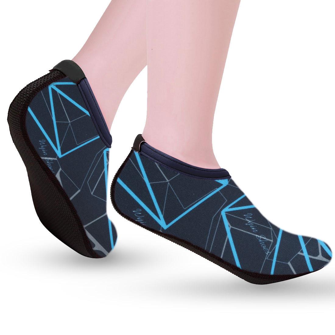 Аквашузы, обувь для дайвинга, плавания, пляжа Xing Blue, синий