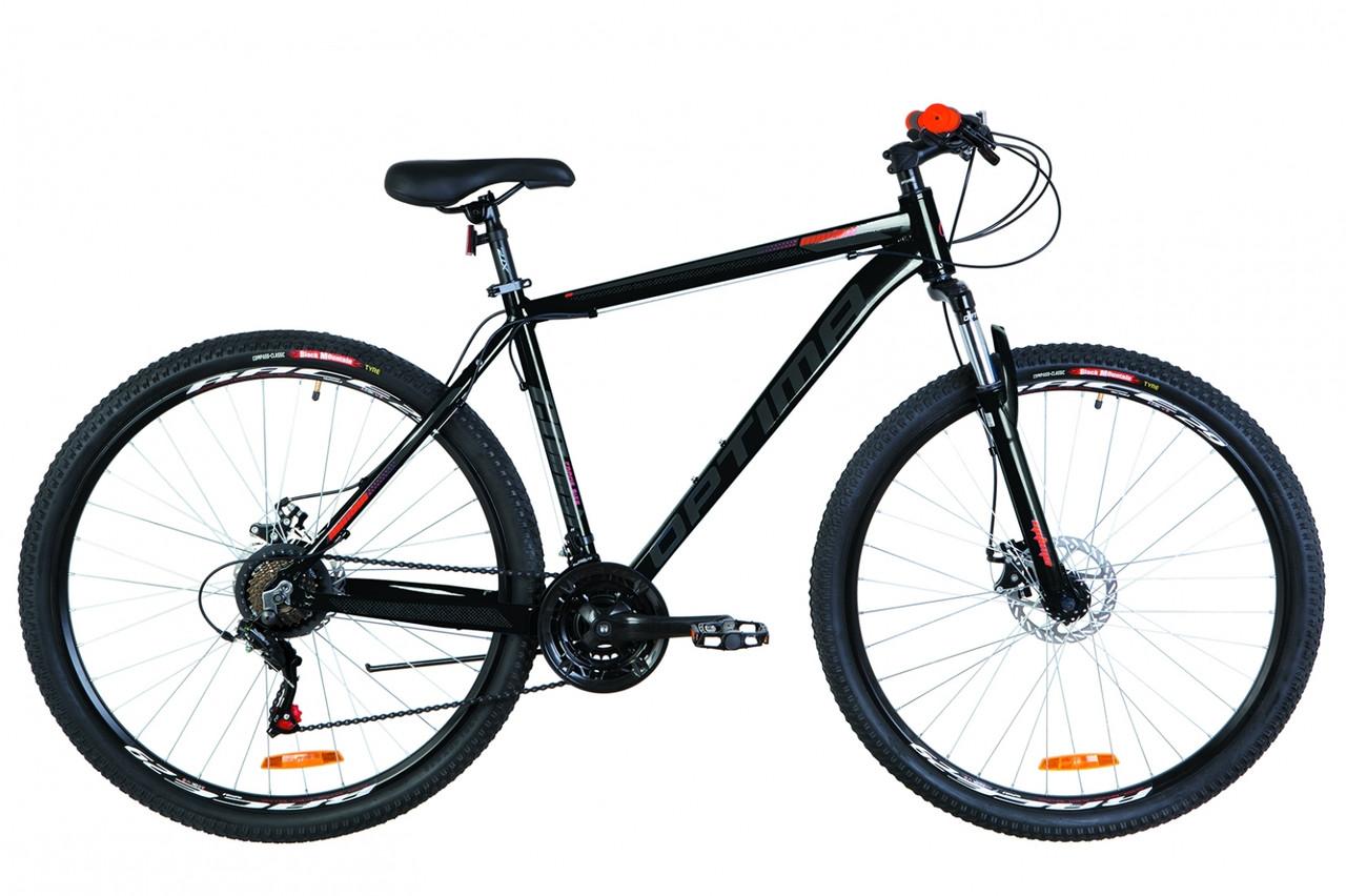 """Велосипед горный 29"""" Optimabikes MOTION DD 2019 (черно-оранжевый)"""