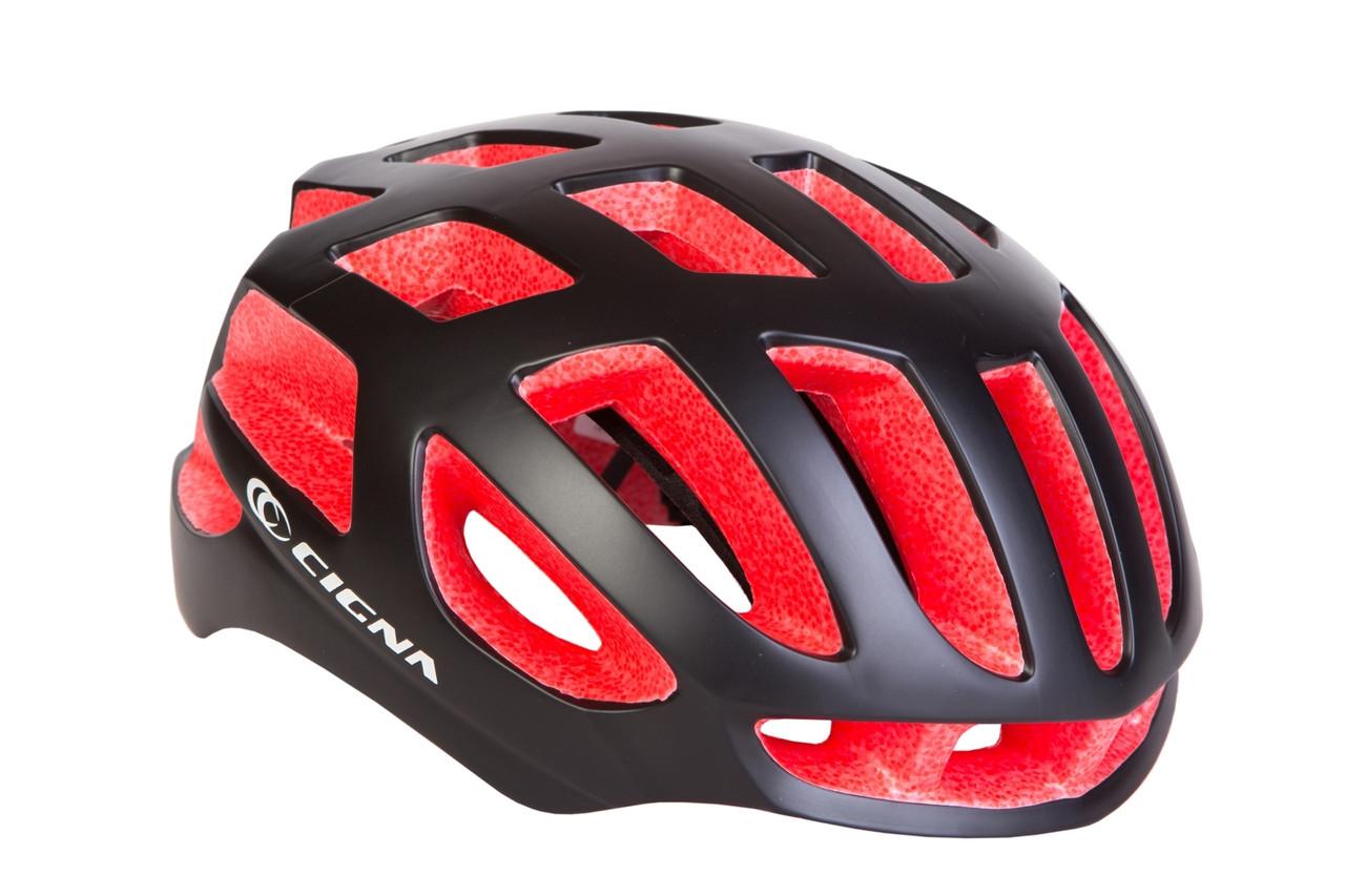 Шлем велосипедный CIGNA TT-4 L (58-61см) (чёрно-красный)