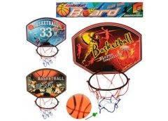 Баскетбольное кольцо, щит пластик. 32х24см., мяч 13см. в кул. 32х30х5см. М 3337 (120)