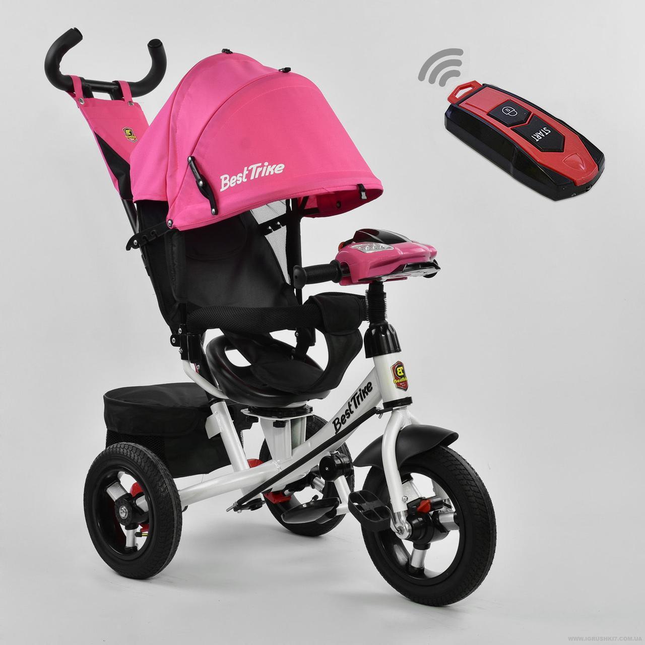 Трехколесный детский велосипед Best Trike (7700 В - 5151) Розовый