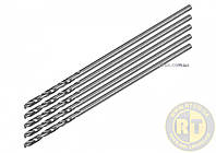 Сверло по металлу PREMIUM : HSS 4241, к нержав. и високолегов. стали,литья, Ø=0.5 х 25 мм, 5 шт YaTo YT-44200