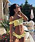 """Жіночий стильний роздільний купальник 0037 """"Топ Рюші"""", фото 5"""