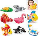 Игрушки детские надувные Intex 58590 4 вида (касатка, фламинго, рыба, уточка) от 2-х лет, фото 2