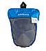 Маска для плавания EasyBreath, снорклига, дайвинга  Aolais Blue на все лицо, полнолицевая панорамная, синяя, фото 2