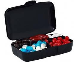 Пенал для капсул и таблеток (чёрный)