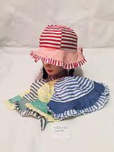Детская красивая летняя панамка в полоску для девочки р. 50-52