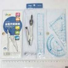 Набор чертежника BD-2501 4 предм. в PVC упаковке (12/288)