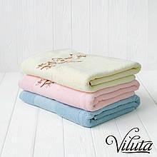 """Полотенце махровое """"Сакура"""" Турция 70*140 см, розовое 0227"""