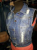 Джинсовая жилетка женская Vanver 8070