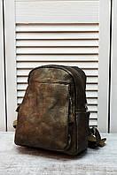 Рюкзак женский кожзам бронзовый 27x23x11 см 8609