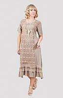 Нарядное женское  платье больших размеров материал вискоза