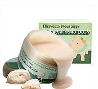 Набор Маска глиняно-пузырьковая Elizavecca Milky Piggy + Гелевая коллагеновая маска Elivecca Green Piggy Colla