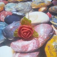Роза на шпильке из фоамирана, красная