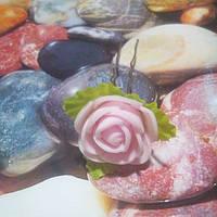 Роза на шпильке из фоамирана, розовая